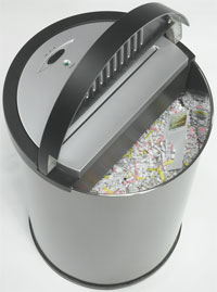MARTIN YALE Executive Round Paper Shredder Top