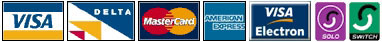 Credit and Debit Cards accepted by ABT