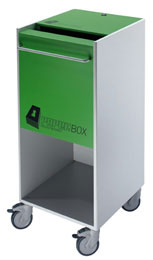 IDEAL Paperbox pre-shredder collecting system